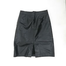 Vintage Women's Black Leather Skirt The Leather Ranch Size M / Long