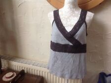 👀** BNWT** PLANET 👀 UK XL GREY/BLACK LACE sleeveless -Top  - RRP - £29