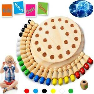 Wooden Memory Match Stick Chess Game Children Kids Puzzle Educational Toys AU