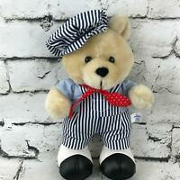 Cloud 9 Teddy Bear Plush Train Conductor Outfit Standing Stuffed Animal Soft Toy