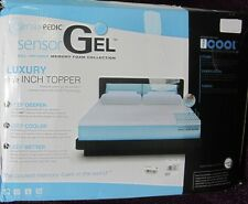 "SENSORPEDIC SensorGel Gel Infused Memory Foam 1.5"" Mattress Topper TWIN"