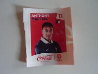 1 Sticker Coca Cola n°11 Anthony Martial équipe de France UEFA Euro 2016