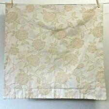 Pottery Barn Jacquard Euro Pillow Sham Rose Floral Off White/Sand Natural Neutra