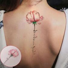 2stk Einmal Tattoo Temporary Tattoo Blumen Body Sticker Wasserfest Körperkunst