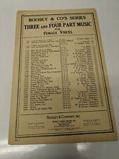 Danny Boy Sheet Music SSA By Fred Weatherly Arranged by Ruth Hausman 1926