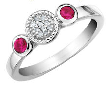 Создано кольцо с рубином 1/3 карат (Ctw) из чистого серебра