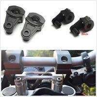 "2 X Aluminum Motorcycles Handle Fat Bar Mount Clamps Riser 7/8""/1 1/8"" 22MM/28MM"