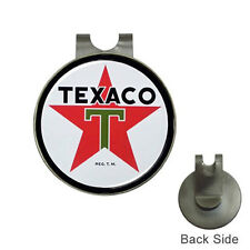 New Vintage Sign Texaco Oil and Gasoline Golf Ball Marker Hat Clip Hot!