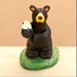 Bearfoots Flowers for You Mini Figurine Big Sky Carvers  Demdaco #
