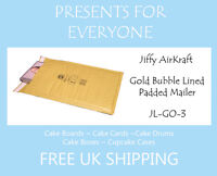 200 x Jiffy Airkraft Gold Bubble Lined Postal Padded Mailing Bags JL-GO-3 F/3