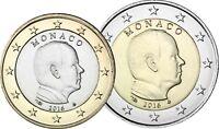 Monaco 2016 Fürst Albert II Grimaldi 1 Euro und 2 Euro Kursmünzen bankfrisch