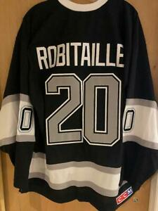 CCM HEROES of HOCKEY LOS ANGELES KINGS LUC ROBITAILLE JERSEY SMALL NEW w TAGS