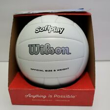 New listing Outdoor Soft Play Volleyball Ball Beach Game Training Official Weight Size White