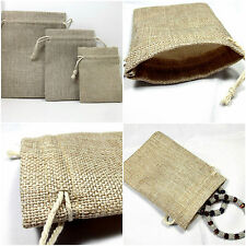 5X Drawstring Bag Jute Hessian Linen Burlap Gemstones Mobile Phone Watch Mp3