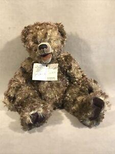 "DJ-0005 Vintage 1999 Handcrafted German Mohair Siggi Bear FINN 15"" (13 joints)"