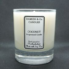 Coconut Fragrance Hand Made Soy Wax Candle. Burns for +35 Hours.