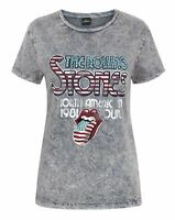 The Rolling Stones Women's Acid Wash T-Shirt