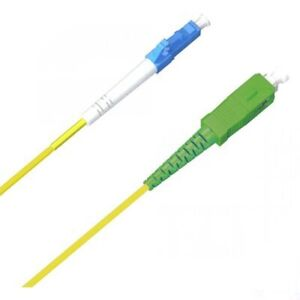 LC/UPC-SC/APC Simplex Patch-Cord 9/125 OS1/OS2 2mm LSZH SM Fibre Optic Cable NEW