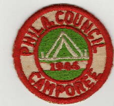 Activity Patch Philadelphia Council Camporee 1946 Early Twill Patch 400571