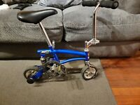 "JUST GO ""RUNT"" MINI STUNT BIKE,CLOWN/CIRCUS POCKET TRAVEL BICYCLE"