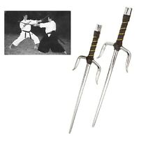 New Pair of Octagon Sais Karate Ninja Sword Martial Arts Training/Display-Chrome