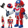 Playmobil Minifigures Series 11 | 9146 Opened Pack Captain America Combattant