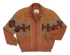 ADLER Leather Jacket XL Mens Vintage CHIMAYO Western Native Knit Sweater Jacket