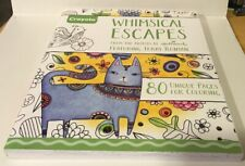 Crayola Whimsical Escapes Adult Coloring Book Hallmark Artists Terry Runyan 80pg