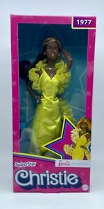 Superstar Christie Barbie Doll 2021 NW 1977 REPRODUCTION BLACK LABEL GXL28