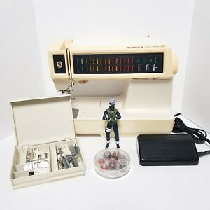SINGER Touch-Tronic 2010 Sewing Memory Machine VTG w Accessories Case & Pedal