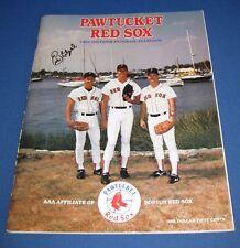 1988 Pawtucket Red Sox Program Yearbook BOSTON  SIGNED Eric Hetzel scorecard
