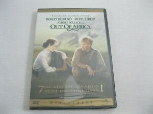 New! Sealed! Out of Africa DVD - Robert Redford - Meryl Streep - 1985 Widescreen