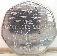 RARE 2015 50P COIN QUEEN ELIZABETH II 50p COIN THE BATTLE OF BRITAIN ///////