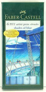 Faber Castell 6 Pitt Artist Pens Brush Tip Multiple Styles to Choose From