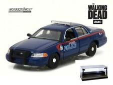DIECAST CAR W/LED CASE 2001 WALKING DEAD FORD CROWN VICTORIA ATLANTA POLICE 1/43