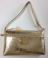 Michael Kors Wristlet Bag Pale Metallic Gold Purse RRP £95