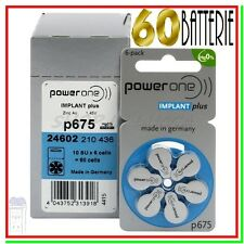 60 POWER ONE P675 IMPLANT PLUS Batterie Pile per apparecchi acustici COCLEARI