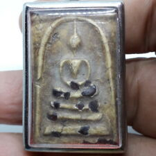 Beautiful Somdej Relics Buddha Thai Amulet Luck Rich Charm Attract Protect Lucky