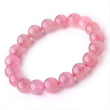 100% Natural Gemstone Quartz Bracelets 8mm Round Shape Pink Beads Fine Jelwery