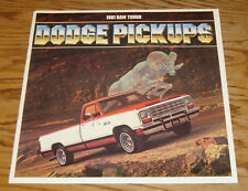 Original 1981 Dodge Truck Pickup Sales Brochure 81 Ram D W 150 250 350