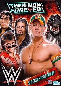 TOPPS WWE Then now forever alle 244 Sticker komplett + Album