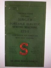 Singer 221 Featherweight Service Adjuster Instruction Manual Set of 7 Manuals Cd