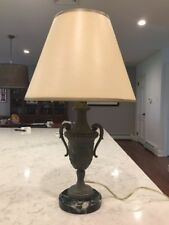Antique French Urn Spelter Table Lamp Made in Paris France
