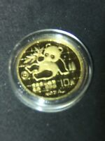 1989-P CHINA 1/10oz GOLD PANDA 10Y PROOF COIN .999 PURE GOLD, VERY RARE COIN