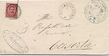 P5934   Napoli, ROCCADEVANDRO, annullo numerale a sbarre 1881