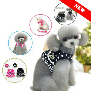 Cat Walking Harness Leads Leash Adjustable Strap Vest Collar Small Dog Pet Puppy