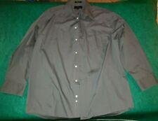 Mens Valerio Garati Size Large 16 32/33 Gray Long Sleeve Button Down Dress Shirt