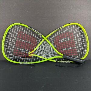 2 Wilson Hyper Alloy Crushing Power Xpress Racquetball Raquet XS 3 7/8 Rackets