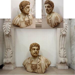 VECCHIO ORIGINALE BUSTO IN MARMO SCOLPITO ROMA ORIGINAL CLASSIC MARBLE SCULPTURE