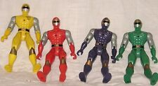 4 Vintage Power Ranger Action Figures